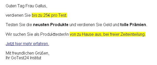 produkttester mit bezahlung