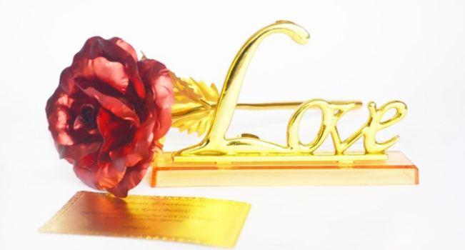 vergoldete rose mit rabatt kaufen